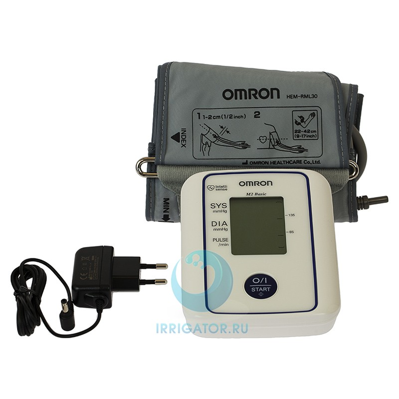 Тонометр OMRON M2 Basic адаптер + универсальная манжета