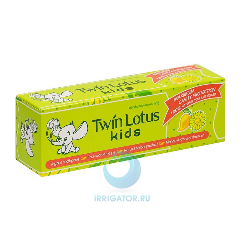 Зубная паста Twin Lotus Kids (манго и хризантема) 3-10 лет, 50 гр