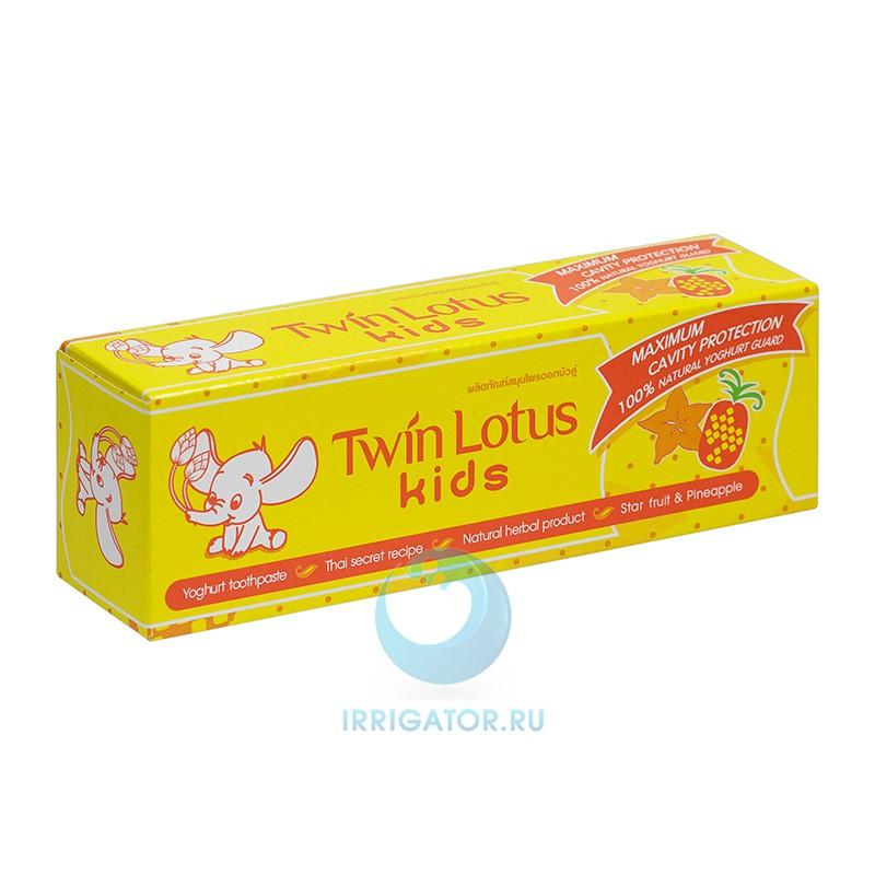Зубная паста Twin Lotus Kids (карамбола и ананас) 3-10 лет, 50 гр
