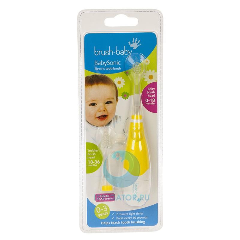 Brush Baby Щетка зубная электрическая звуковая (0-3 года) BabySonic
