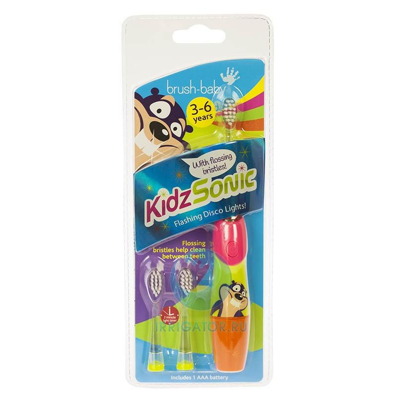 Brush Baby - Щетка зубная электрическая звуковая (3-6 лет) KidzSonic BRB070