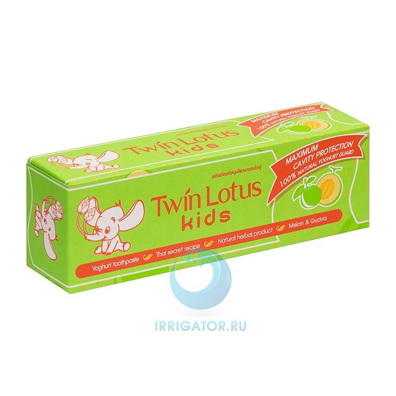 Зубная паста Twin Lotus Kids (дыня и гуава) 3-10 лет, 50 гр