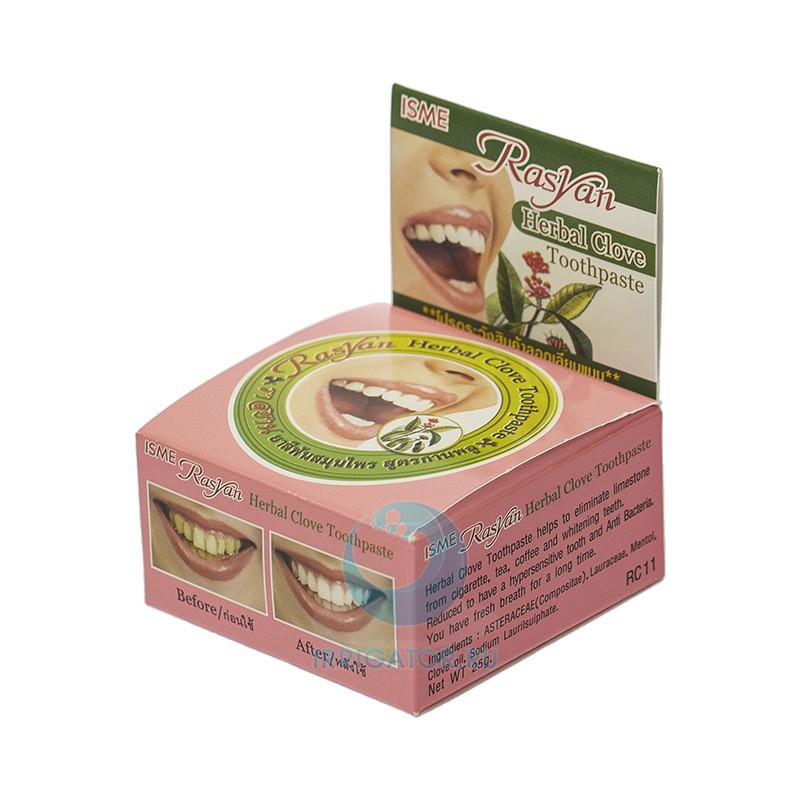 Зубная паста Herbal Clove Toothpaste Whitening Teeth - ISME Rasyan, 25 гр