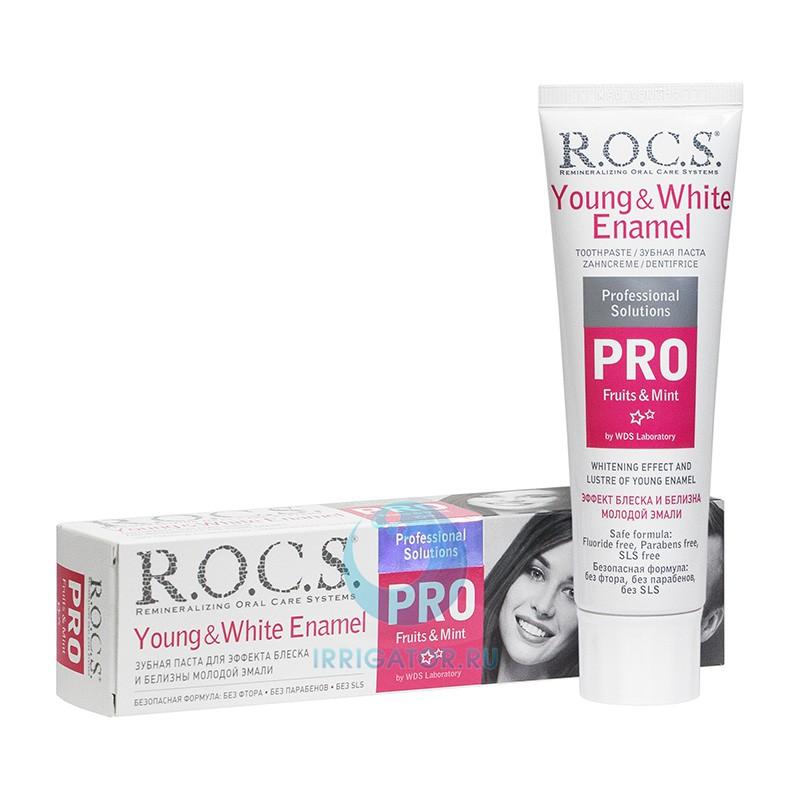 Зубная паста R. O. C. S. PRO Young White Enamel з/п 100 мл
