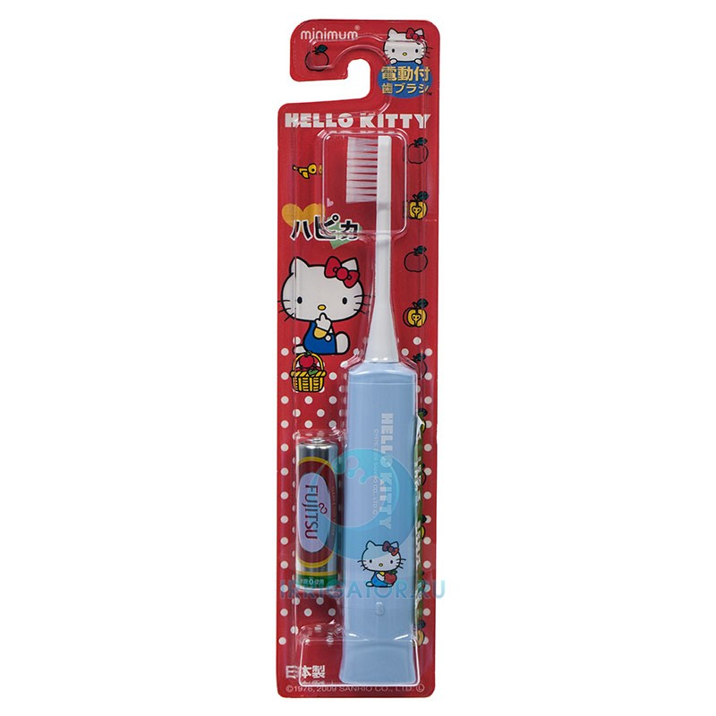 Электрическая зубная щетка Hapica kids голубая 3-10 лет