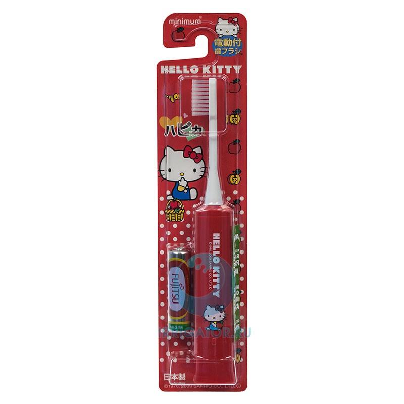 Электрическая зубная щетка Hapica kids красная 3-10 лет