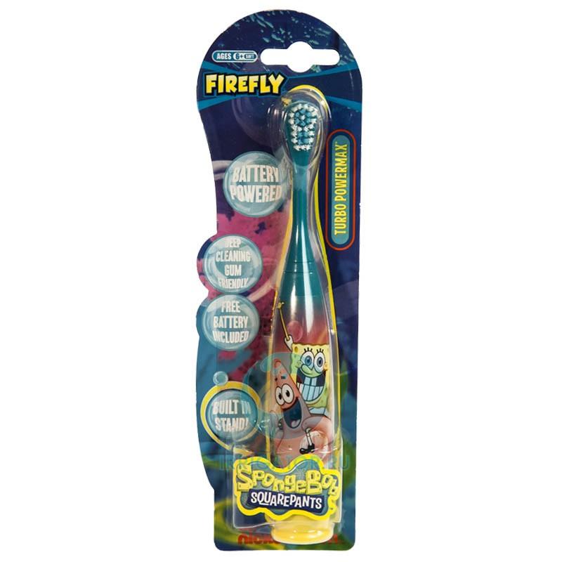 Электрическая зубная щетка Spongebob Turbo Power Max