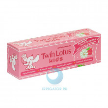 Зубная паста Twin Lotus Kids (клубника и ромашка) 3-10 лет, 50 гр