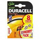 Батарейки Duracell Basic AAA алкалиновые LR03 8шт