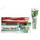 Dabur herb`l с базиликом + зубная щетка