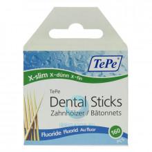 Зубочистки TePe Wooden Fluoride, 160 шт