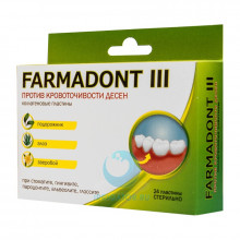 Пластины Farmadont III при кровоточивости десен
