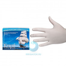 Перчатки смотровые латексные без талька (L) - 100 шт