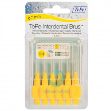 Ершики TePe Interdental Brush 0.7 мм Yellow