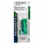 Набор PresiDENT дорожная зубная щетка + паста