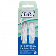 Зубная нить TePe Bridge&Imlant Floss, 30 шт