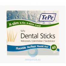 Зубочистки TePe Wooden Fluoride, 40 шт