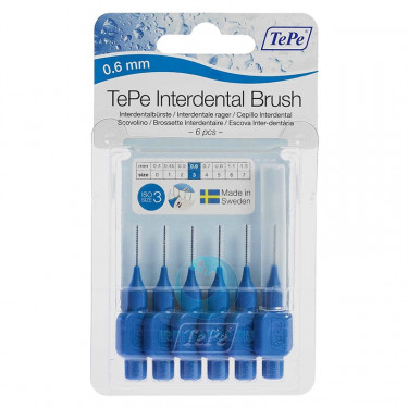 Ершики TePe Interdental Brush 0.6 мм Blue