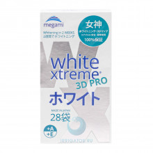 Отбеливающие полоски Megami White Xtreme 3D PRO для чувствительных зубов, 28 шт.