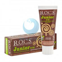 Зубная паста R.O.C.S. Junior Шоколад и карамель 6-12 лет, 60 мл.