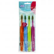 Зубные щетки TePe COLOR Compact Extrasoft набор, 4 шт