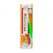 Набор Dok Bua Ku Kids, зубная щетка + паста (Апельсин) от 2 до 10 лет