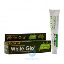 Зубная паста White Glo Natural White Отбеливающая, 100г